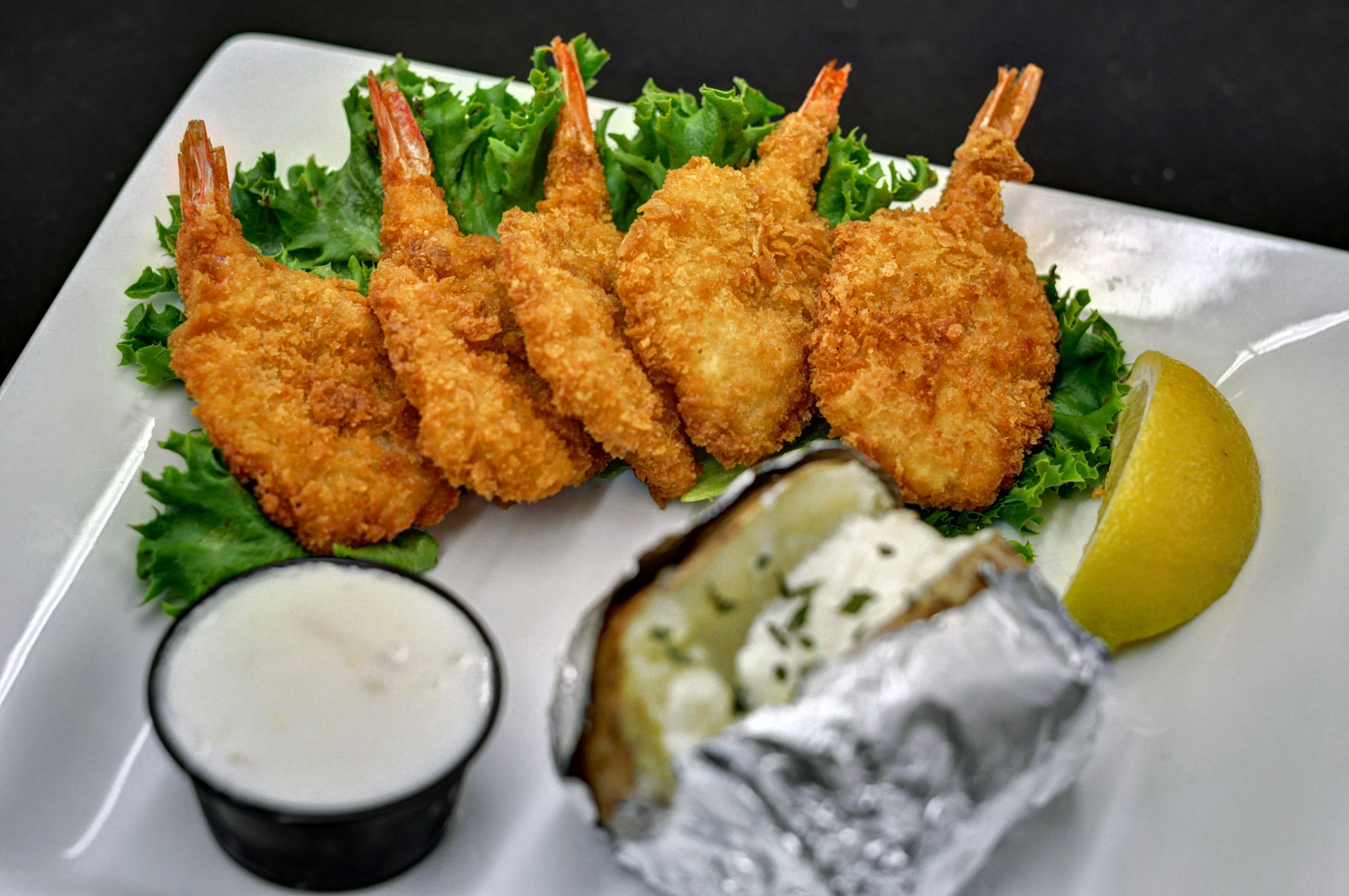 crunchy shrimp dish photo